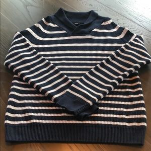 NWOT Awesome H&M Blue/Wt Striped Sweater XL